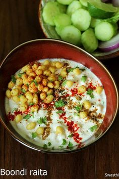 Boondi raita is a indian raita made with yogurt, boondi , spice powders & herbs. Serve it as a side with any Indian meal or as a snack #boondiraita #boondiraitarecipe