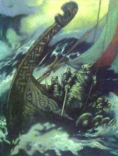 Loki and the ship Nagalfar