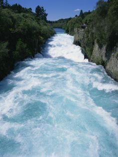 Huka Falls, (Huka means Sugar in Te Reo - Maori Language) Taupo. North Island, New Zealand.