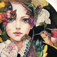 likes, 33 comments – Monica Fernandez Pintora (Monica Fernandez B. Art Buddha, Illustration Art, Illustrations, Surreal Art, Face Art, Painting Inspiration, Lovers Art, Collage Art, Art Girl