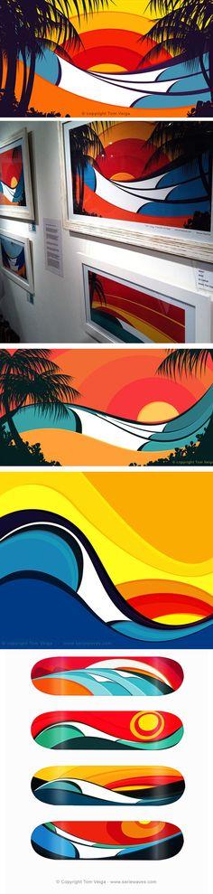 Tom Veiga é o autor da Série Waves, artes com inspiração nas ondas do mar. Ele foi convidado para criar novas estampas da Billabong, representando o Brasil num terreno recheado de gringos. As roupas ficaram sensacionais com o trabalho do artista, fugindo daqueles florais pavorosos.          ...