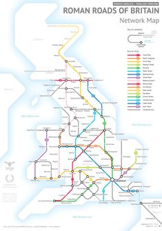 This map shows how Roman Britain kept the show on the road... by imagining it as a tube network   CityMetric World History Facts, Ancient World History, World History Lessons, History Photos, History Timeline, History Projects, History Memes, Strange History, School Projects