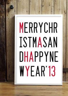 Decoración de Navidad diferente. #Navidad, #Poster, #lettering, #merrychristmas, #decoration, #decoracion, #christmas.