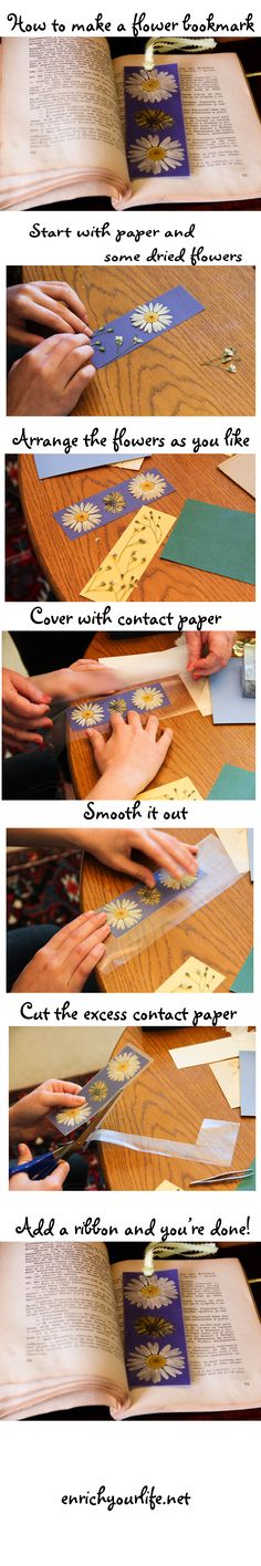 How to make a flower bookmark DIY