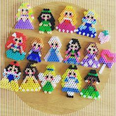 Disney Princess perler beads by ayaka_y.s