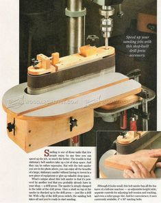 DIY Belt Sander - Sanding Wood