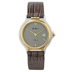 Da Vinci by Lucien Piccard Men's Quartz Dial Stainless Steel Light Brown Leather Band Watch * Click image to review more details.