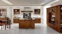 La cucina in stile classico dona atmosfere calorose e avvolgenti ideali per chi desidera perdersi nel fascino dei ricordi. #Lube #arredo #design #CucineLubeTorino #Cucine #Lube