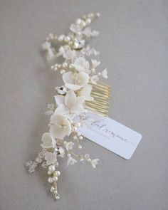 """105 Likes, 8 Comments - All About Romance • Kylie Ward (@_allaboutromance_) on Instagram: """"Botanical themed bridal combs in full bloom with flowers tangling vines and tiny floral buds ❤️ . .…"""""""