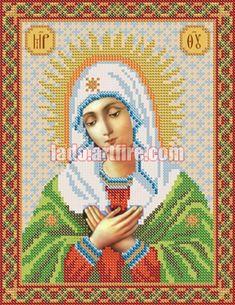 Tenderness orthodox icon bead embroidery kit DIY beadwork kit