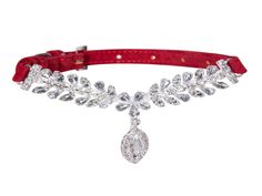 Designer Luxury Crystal Soft Suede/Leather Style Small Dog Collar ____________________________ Luxurious Diamond Crystal Dog Collar for Small Dogs Material: Crystal + Velvet Size: XS, S  Size XS: 7-9 inches,  18- 23 cm Size S : 9-13 inches, 23- 33 cm