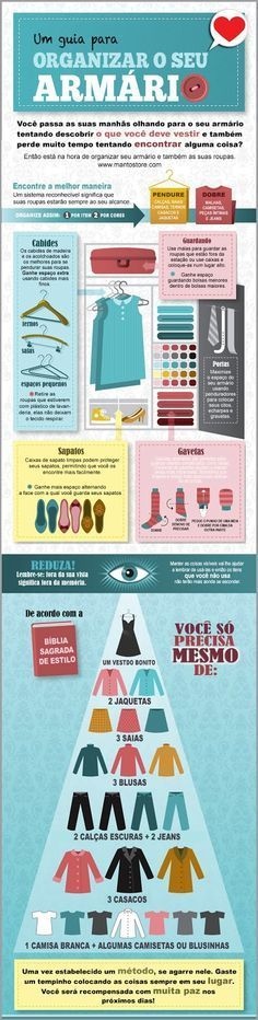 Eba! Esse é o guia ilustrado da Mantô para ajudar você arrumar o seu guarda roupas! Compartilhe e comente.