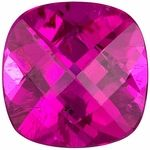 This natural genuine Cushion cut Pink Tourmaline loose gemstone displays beautiful bright pink color of  medium  tone and is faceted to the highest professional lapidary standards for maximum brilliance, excellent proportions and symmetry. This Pink Tourmaline's clarity rating is eye clean. NOTE The very facets that create the beautiful sparkle in a gemstone may create optical illusion white or dark/black spots and areas, or uneven coloring when a gemstone is photographed. Single dimension…