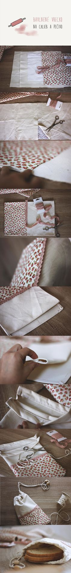 pocket / bread / diy / sew / diyproject / lace