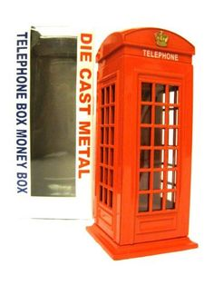 London Souvenir Die Cast Metal Red Telephone Box Money Box [Kitchen & Home] by country. $39.99. London Souvenir Die Cast Metal Red Telephone Box Money Box