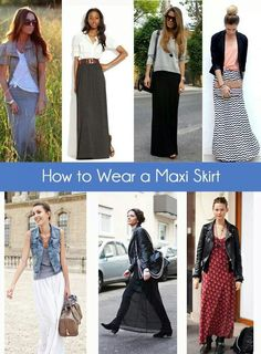 Some great ideas for the maxi skirt and how to wear then this fall/winter.