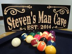 Custom Made Man Cave Personalized Wooden Carved by TKWoodcrafts, $44.95