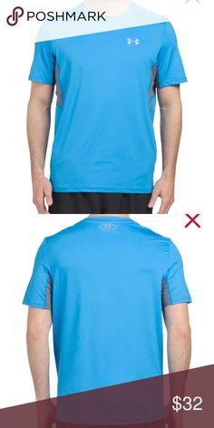 Under Armour ~NWT ~Fitted Tee ~Coolswitch Run ~XL Under Armour ~NWT ~Fitted Tee ~Coolswitch Run ~XL ~Cools body & skin fit longer performance ~Blue & Gray Under Armour Shirts Tees - Short Sleeve