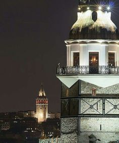 Maiden's tower & Galata tower, Istanbul.