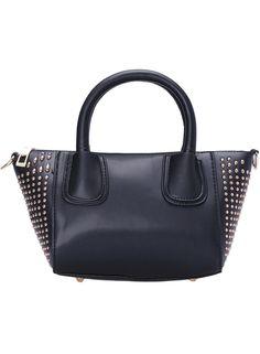 Black Rivet PU Shoulder Bag 17.00