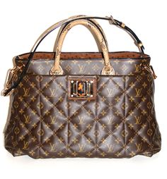 View this item and discover similar for sale at - The signature Monogram Canvas has been softly quilted and the bag features python handles and adjustable, removable shoulder straps, black patent leather Louis Vuitton Totes, Louis Vuitton Handbags, Louis Vuitton Damier, Monogram Tote Bags, Monogram Canvas, Tote Purse, Black Patent Leather, Michael Kors, Purses