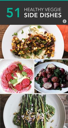 51 Easy and Healthy Veggie Sides That Will Outshine Any Entrée #sidedish #recipes #vegetables