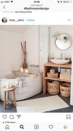 [I love this interior design! It's a great idea for home decor. Home design. – Lena Albrecht I love this interior design! It's a great idea for home decor. Home design. I love this interior design! It's a great idea for home decor. Home design. Bathroom Bath, Small Bathroom, Bathroom Ideas, Modern Bathroom, Neutral Bathroom, Bathroom Laundry, Master Bathroom, Bathroom Colors, Shower Ideas