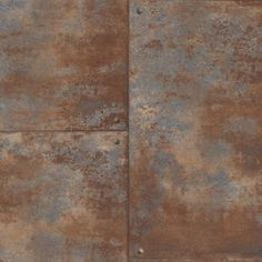 Brown and Blue Corroded Metal Tiles Wallpaper Bronze Wallpaper, Look Wallpaper, Tile Wallpaper, Industrial Wallpaper, Bedroom Wallpaper, Brown Bathroom Decor, Metal Panels, Metal Wall Panel, Rusted Metal