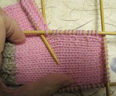 Sukat, helppo nauhakavennuskantapää | Punomo Crochet Socks, Knitting Socks, Knitting Patterns, Cross Stitch, Slippers, Crocheting, Tricot, Tights, Tejidos