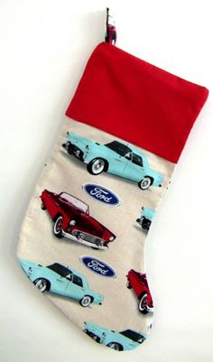 Ford Christmas Stocking! #Peoria #Illinois #Christmas #Stocking Mustang, Ford Girl, Ford Thunderbird, Christmas Stockings, Peoria Illinois, Seasons, Car Parts, Holiday Decor, Birds