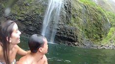 Na Pali Coast, Kauai, Hawaii. First two miles of Kalalua Trail to Hanakapiai Beach and another 2 to the falls. Video.
