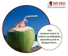 Dengue Fever, Relieve Constipation, Coconut Water