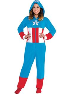 Adult American Dream One Piece Pajamas - Party City-Not available now but once it is again I'm there..