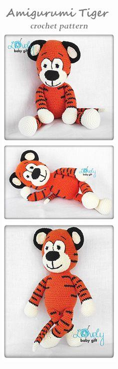 Amigurumi pattern, tiger, animal crochet pattern