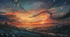 Título: Dragon fly 02  Artista: Nikolay Moskvin    #rpg #r2pg #illustration #fantasy #fantasyart #digitalart #instagood #digitalpainting #inspiring #followme #artwork #art #painting #storytelling #artsy #gallery #artoftheday #creative #drawing #instaart #rpginspiration