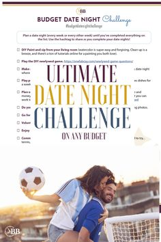 Cheat date night ideas for budget friendly dates and things to do with husband on weekends or at home. Has 3 GENIUS hacks to get free babysitting (I CANNOT believe I never thought of #1 - we just started doing this) and has a free printable challenge to do 14 date nights in 3 months, spending LESS THAN $20 on each date including babysitting. (Which thanks to #1, we can actually do- I thought you could only get free babysitting if you had fmaily around- which we don't). Diy Courses, Couples Game Night, Challenges To Do, Learn Russian, Paint And Sip, How To Get, How To Plan, Babysitting, Diy Painting