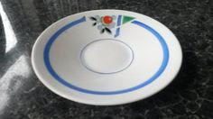 Art Deco Ceramic Saucer made by Shelley in the Vogue Pattern by VintageDecoUK on Etsy