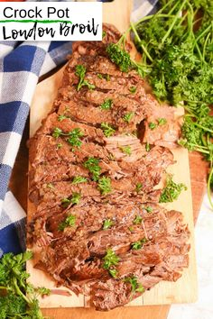 How to Make London Broil in a Crock Pot: Delicious & Gluten-Free! London Broil Slow Cooker, Slow Cooker Beef, Slow Cooker Recipes, Crockpot Recipes, Cooking Recipes, Budget Recipes, London Broil Recipes, Planning Budget, Menu Planning