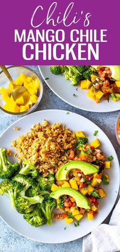 This Mango Chile Chicken is a perfect Chili's copycat. It's loaded with chile spices, mango glaze Supper Recipes, Lunch Recipes, Vegetarian Recipes, Healthy Recipes, Sweets Recipes, Delicious Recipes, Santa Fe Chicken Salad, Chicken Chili, Easy Weeknight Dinners