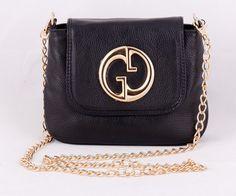 Сумка Gucci небольшая из натуральной кожи черная. Размер 22х17х9см #19724