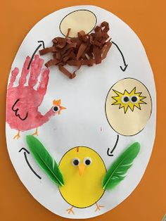 Art Activities For Toddlers, Science For Kids, Art For Kids, Crafts For Kids, Farm Animals Preschool, Farm Animal Crafts, Preschool Activities, Egg Crafts, Easter Crafts