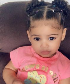Mixed Baby Hairstyles, Cute Toddler Hairstyles, Girls Natural Hairstyles, Kids Braided Hairstyles, Natural Hair Styles, Black Little Girl Hairstyles, Toddler Curly Hair, Babies With Curly Hair, Mix Baby Girl