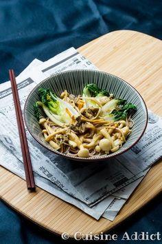 Poêlée Japonaise: Pak Choï, Champignons & Soba - Cuisine Addict