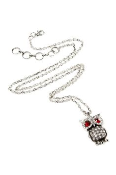 Eyeing Owl Pendant Necklace my bug would like this