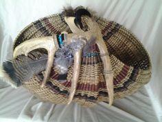Very large deer antler basket I made per special request