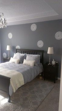 9ec0893928f2 Wall Stencil - transitional - bedroom - portland - Pearl Painters
