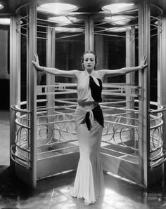 1932: American actress Joan Crawford (1904 - 1977) as she appeared in the title role of Clarence Brown's 'Letty Lynton', wearing an outfit by Adrian. (Photo by George Hurrell/John Kobal Foundation/Getty Images)