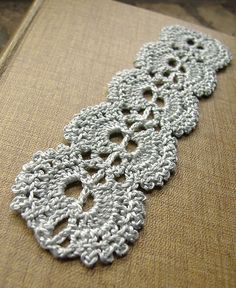 String of Pearls Bookmark Crochet Pattern- free download at end of page