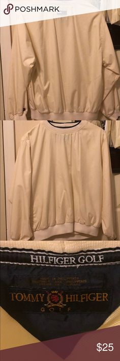 Tommy Hilfiger Golf Cream Windbreaker Tommy Hilfiger Golf Cream Windbreaker with pockets Tommy Hilfiger Tops Sweatshirts & Hoodies