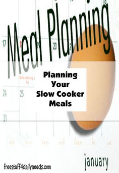 Planning Your Slow Cooker Meals - Free Stuff 4 Daily Needs Slow Cooker Recipes, Crockpot Recipes, Money Today, Free Stuff, Crock Pot, Saving Money, Meals, How To Plan, Healthy Slow Cooker